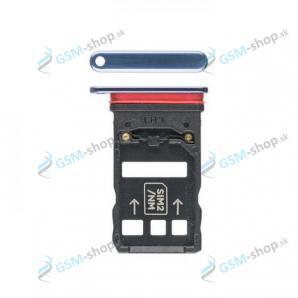 Sim a Micro SD držiak Huawei Mate 20 X modrý Originál