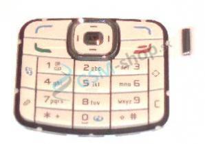 Klávesnica Nokia N70 smotanová Originál
