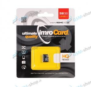Pamäťová karta IMRO MicroSD 32 GB SDHC, trieda 10