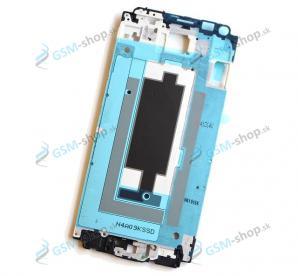 Kryt Samsung Galaxy Alpha (G850F) predný strieborný Originál