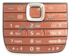Klávesnica Nokia E75 vonkajšia hnedá Originál