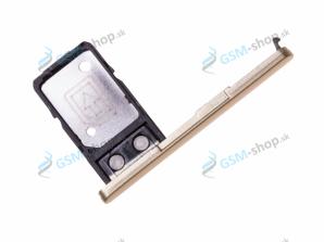 Sim a Micro SD držiak Sony Xperia L2 zlatý Originál