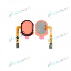 Flex Samsung Galaxy A20e (A202) a snímač odtlačku prsta ružový Originál