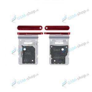 SIM a microSD držiak Samsung Galaxy S20 FE (G780) červený Originál
