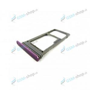 Sim a microSD držiak Samsung Galaxy S9 (G960) fialový Originál