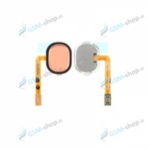 Flex Samsung Galaxy A40 (A405) a home tlačidlo ružové Originál