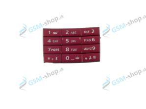 Klávesnica Nokia E66 veľká červená Originál