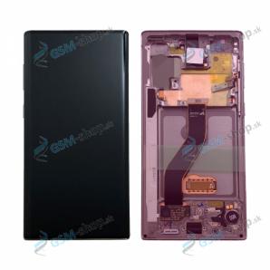 LCD displej Samsung Galaxy Note 10 (N970) a dotyk s krytom ružovým Originál