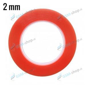Obojstranná lepiaca páska MAGIC RED 2 mm priehľadná
