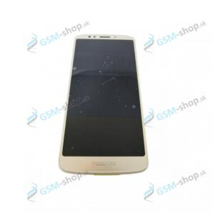 LCD displej Motorola Moto E5 (XT1944) a dotyk s krytom zlatým Originál