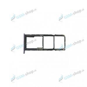 Sim a Micro SD držiak Huawei Y6p fialový Originál
