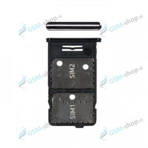 SIM a microSD držiak Samsung Galaxy M31s (M317) čierny Originál