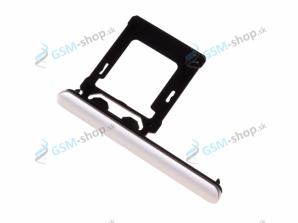 Sim a Micro SD držiak Sony Xperia XZ1 strieborný Originál