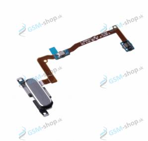 Flex Samsung Galaxy Alpha G850F a home tlačidlo strieborné Originál