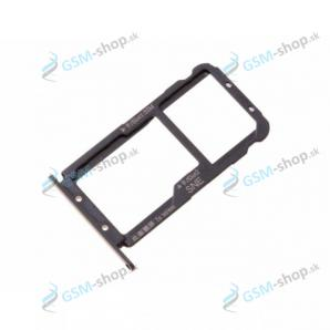 Sim a Micro SD držiak Huawei Mate 20 Lite čierny Originál