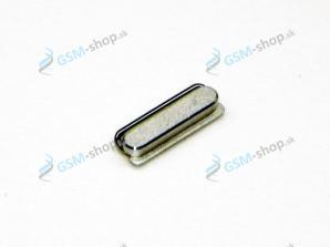 Zapínacie tlačidlo iPhone 5 strieborné