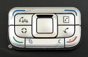 Klávesnica Nokia E65 malá strieborná Originál