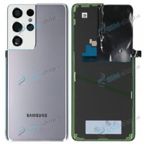 Kryt Samsung Galaxy S21 Ultra 5G (G998) batérie strieborný Originál