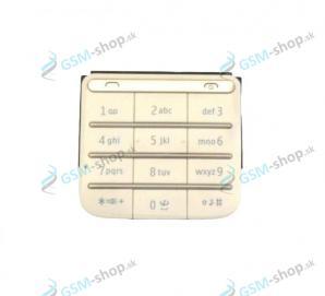 Klávesnica Nokia C3-01 zlatá Originál