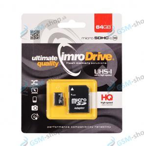 Pamäťová karta IMRO MicroSD 64 GB SDHC UHS-I CLASS 10