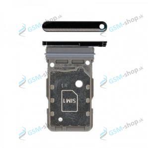 Dual SIM držiak Samsung Galaxy S21 5G (G991B) čierny Originál