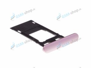 Sim a Micro SD držiak Sony Xperia XZ F8331 ružový Originál
