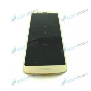LCD displej Motorola Moto G6 Play (XT1922) a dotyk zlatý s krytom Originál