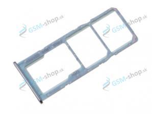 SIM a SD držiak Samsung Galaxy A71 (A715) modrý Originál