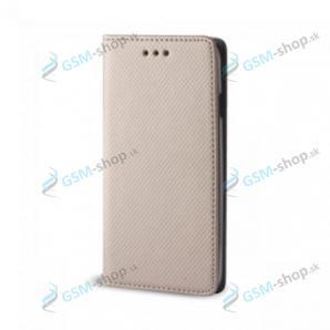 Púzdro Samsung Galaxy A80, A90 knižka magnetická zlatá