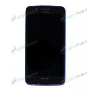 LCD Motorola Moto G5 (XT1676) a dotyk s krytom modrým Originál