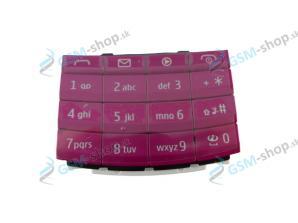 Klávesnica Nokia X3-02 ružová Originál