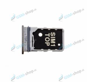 Sim držiak Samsung Galaxy A80 (A805) strieborný Originál