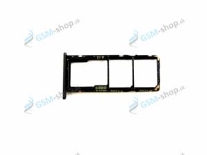 Sim a Micro SD držiak Huawei Y7 2019 čierny Originál