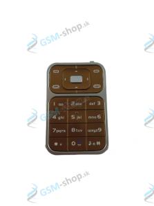 Klávesnica Nokia 7390 hnedá Originál