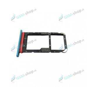 SIM držiak Motorola Moto E7 Power (XT2097) modrý Originál
