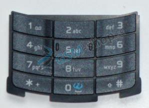 Klávesnica Nokia N80 veľká čierna matná Originál