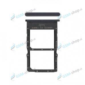 Sim a Micro SD držiak Huawei P40 Lite čierny Originál