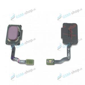 Flex so senzorom odtlačku prsta Samsung S9, S9 Plus a tlačítko fialové Originál