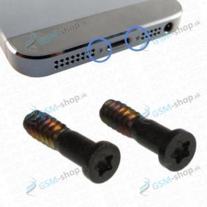 Skrutka iPhone 5s spodná čierna 2 ks