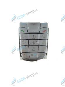 Klávesnica Nokia 6220 strieborná Originál