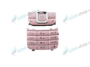 Klávesnica Nokia 6111 veľká a malá ružová Originál