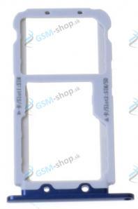 Sim a Micro SD držiak Huawei Honor View 10 modrý Originál