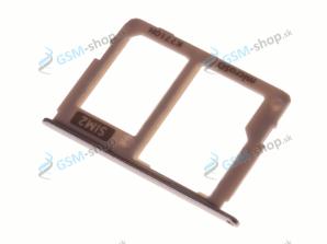 Sim a microSD držiak Samsung J330F Galaxy J3 2017 Dual zlatý Originál