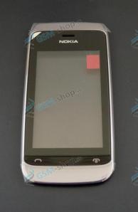 Kryt Nokia Asha 308, 309, 310 predný biely a dotyk Originál