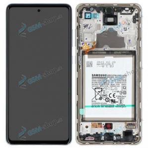 LCD Samsung Galaxy A72 (A725) a dotyk s krytom bielym a batéria Originál