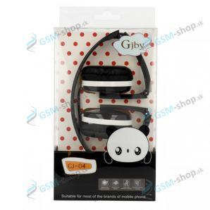Slúchadlá GJBY GJ-04 s mikrofónom 3,5 mm - čierne