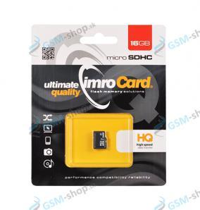 Pamäťová karta IMRO MicroSDHC 16 GB trieda 10