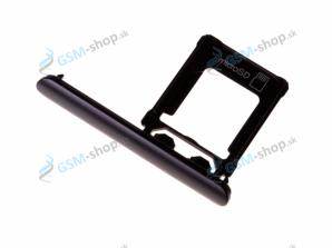 Sim a Micro SD držiak Sony Xperia XZ1 čierny Originál