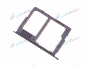 Sim a microSD držiak Samsung J530, J730 strieborný Originál
