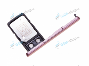 Sim a Micro SD držiak Sony Xperia L2 ružový Originál